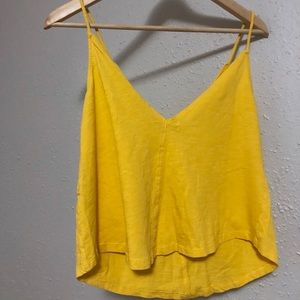 ZARA | Yellow Top | Double V Spaghetti Strap
